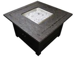 AZ Patio Heaters 40'' Square Faux Stone Fire Pit