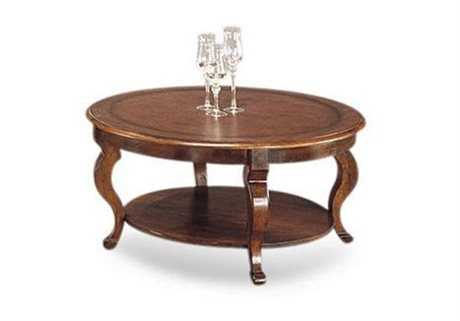Bassett Mirror Old World 40 Round Brown Pontevecchio Cocktail Coffee Table 8125 120ec