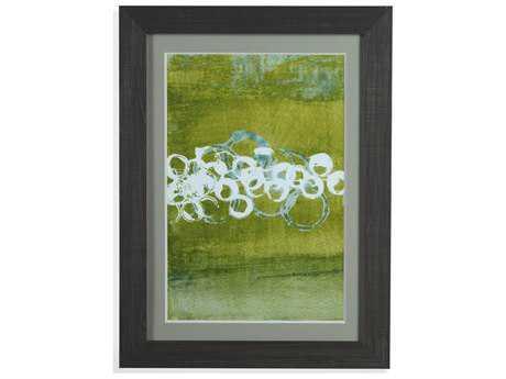Bassett Mirror Thoroughly Modern Green Orbs I Painting