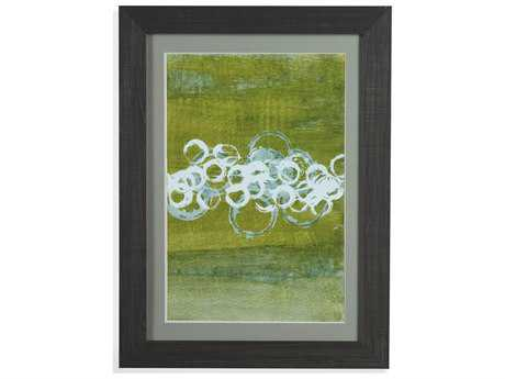 Bassett Mirror Thoroughly Modern Green Orbs II Painting
