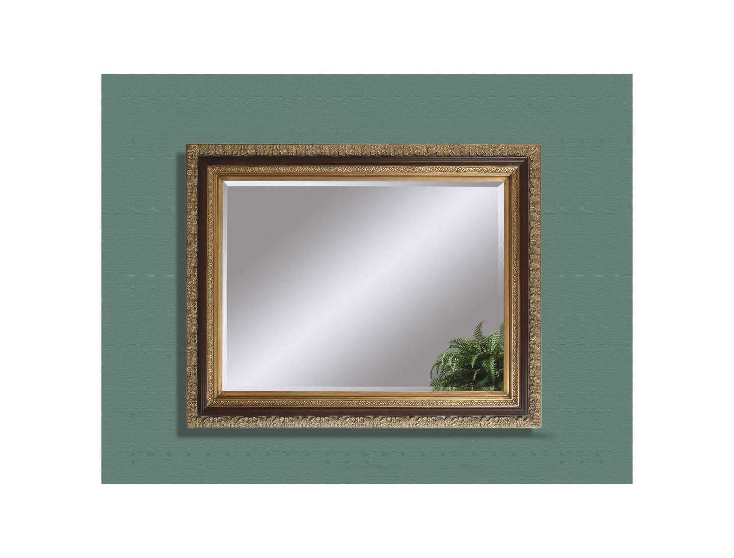 Bassett mirror old world 40 x 50 antique gold leaf for Miroir 40 x 50
