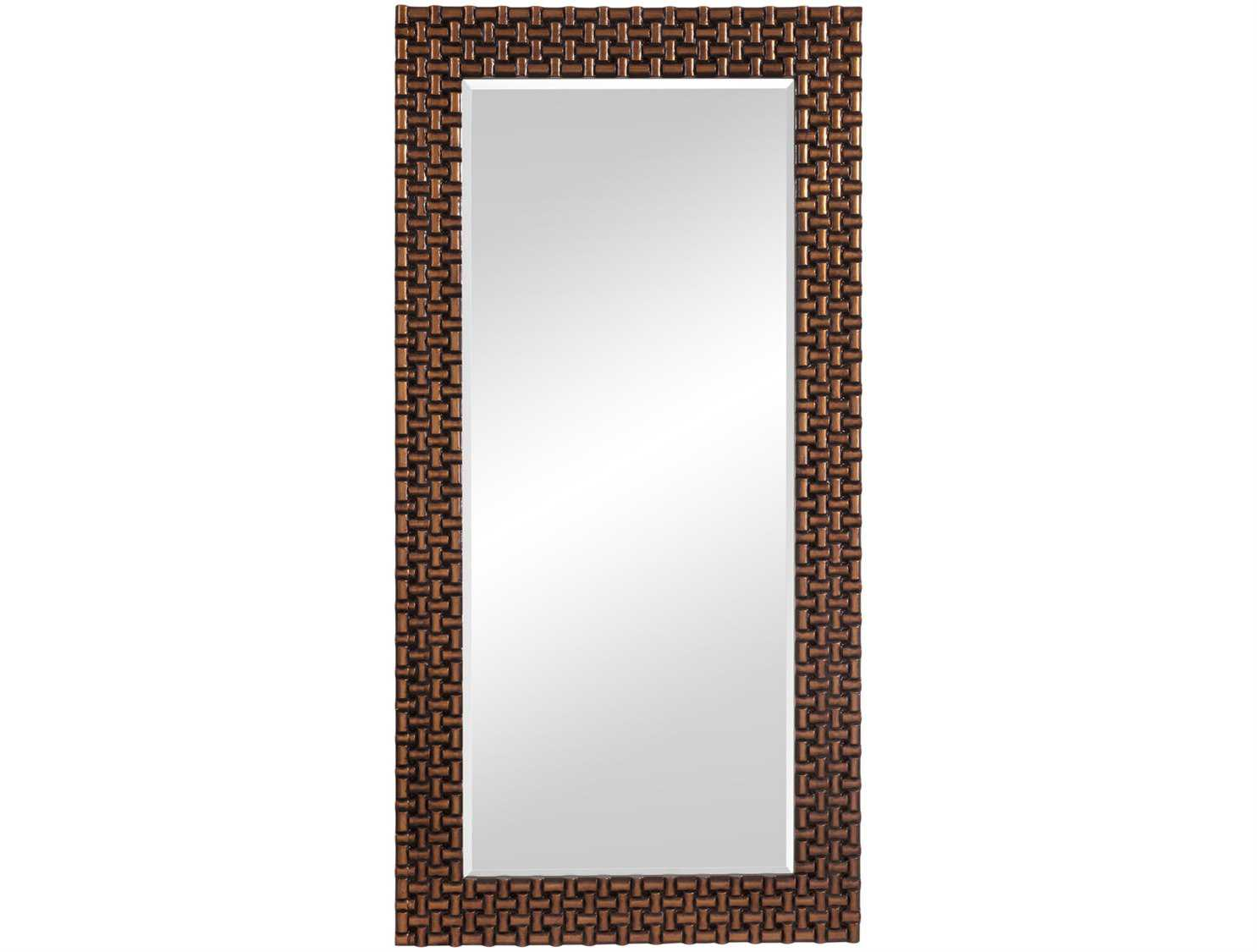Bassett mirror old world 40 x 80 antique gold nailheads for Miroir 40 x 80