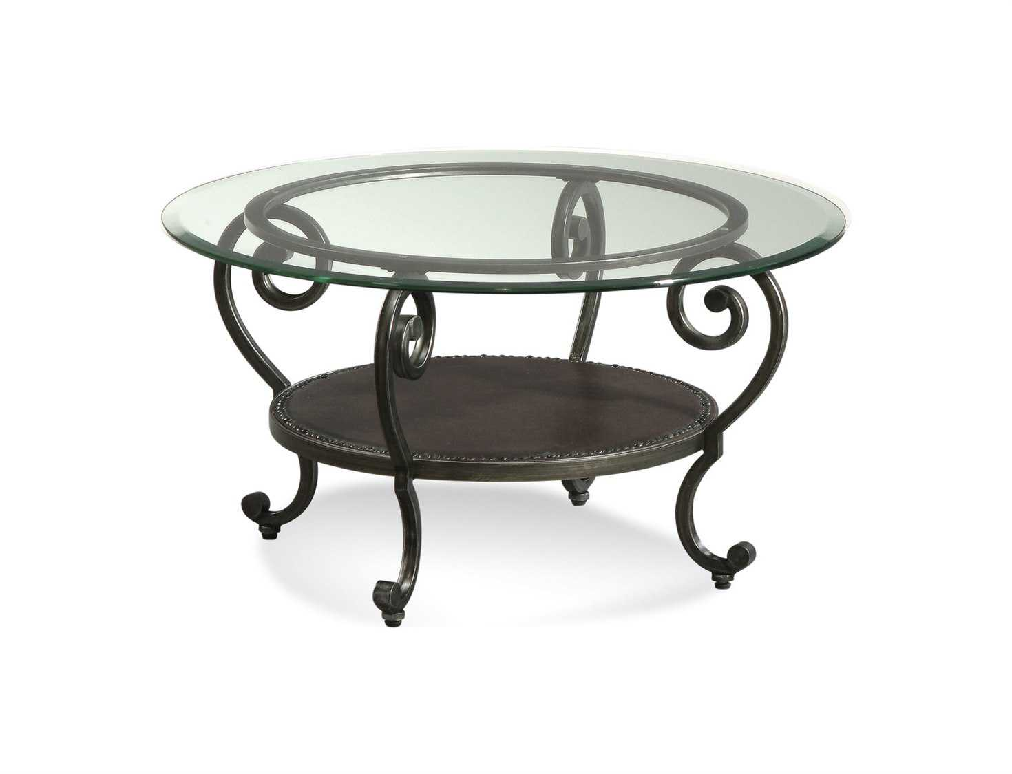 Bassett Mirror Old World 34 Round Black Dauphine Cocktail Coffee Table