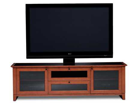 BDI Novia 74'' x 22'' Natural Stained Cherry Triple Wide Enclosed TV Stand
