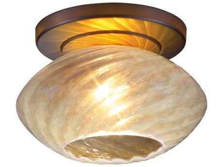 Bruck Lighting Pandora Opaline Glass 6'' Wide Semi Flush Mount Light Bronze - 100858bz/cm