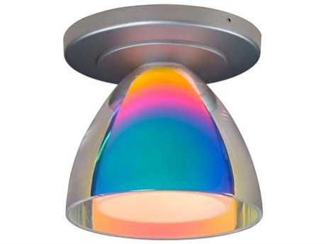 Bruck Lighting Rainbow Sunset Outer & Frosted White Inner Glass 4.5'' Wide Semi Flush Mount Light Bronze - 100908bz/CM
