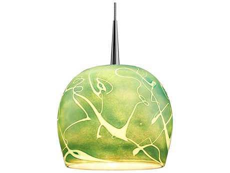 Bruck Lighting Delta Seafoam Glass 6'' Wide LED Mini Pendant Light Bronze / 4'' Kiss Canopy - 223931bz/MP