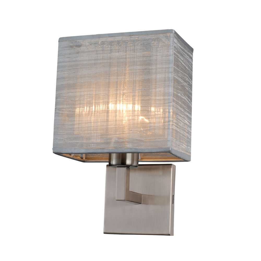Silver Chrome Wall Lights : Bromi Design Prescott Silver & Brushed Nickel Wall Sconce B5403BN