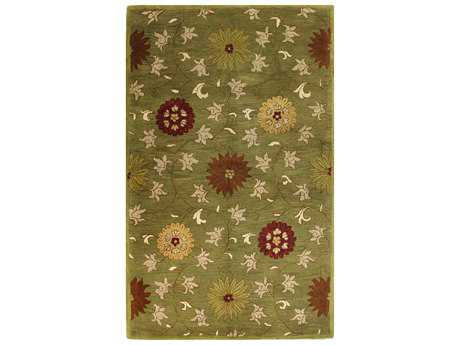 Bashian Wilshire Transitional Green Hand Made Wool Floral/Botanical 2'6'' x 8' Area Rug - R128-GN-2.6X8-HG120
