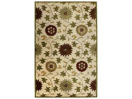 Bashian Wilshire Transitional Beige Hand Made Wool Floral/Botanical 2'6'' x 8' Area Rug - R128-IV-2.6X8-HG120
