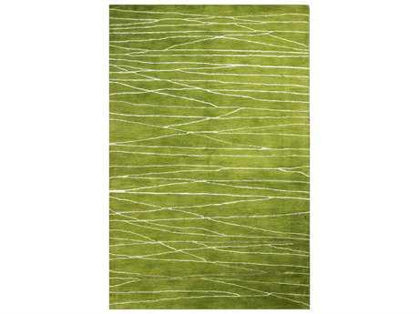 Bashian Greenwich Modern Green Hand Made Wool Abstract 2'6'' x 8' Area Rug - R129-GUA-2.6X8-HG238