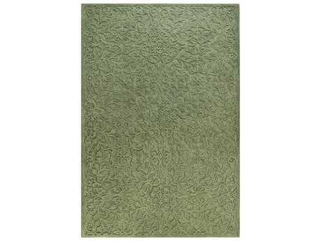Bashian Verona Transitional Green Hand Made Wool Floral/Botanical 2'6'' x 8' Area Rug - R130-GN-2.6X8-LC140