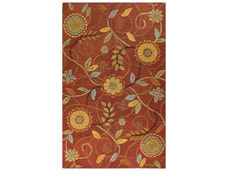 Bashian Verona Transitional Red Hand Made Wool Floral/Botanical 2'6'' x 8' Area Rug - R130-RU-2.6X8-LC125