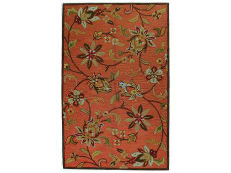 Bashian Verona Transitional Red Hand Made Wool Floral/Botanical 2'6'' x 8' Area Rug - R130-RU-2.6X8-LC132