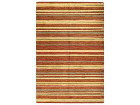 Bashian Contempo Modern Brown Hand Made Wool Stripes 2'6'' x 8' Area Rug - S176-MULTI-2.6X8-ALM76