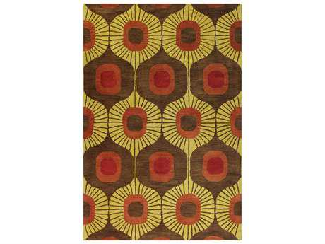 Bashian Chelsea Transitional Brown Hand Made Wool Geometric 2'6'' x 8' Area Rug - S185-CHOC-2.6X8-ST103