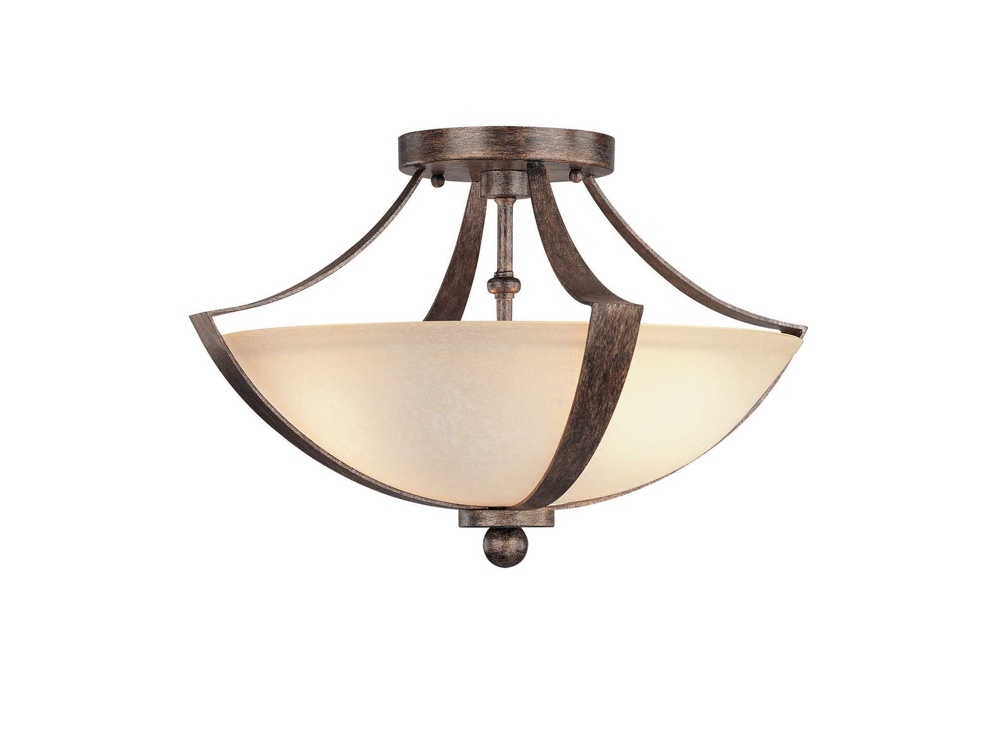 capital lighting soho rustic two light semi flush mount light 4334rt. Black Bedroom Furniture Sets. Home Design Ideas