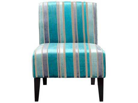 Cyan Design Ms. Stripy Blu Accent Chair