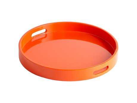 Cyan Design Orange Lacquer Serving Tray
