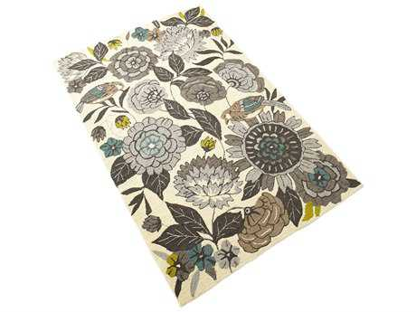 Cyan Design Nouveau Modern Hand Made Synthetic Floral/Botanical 4'10'' x 7'5'' Area Rug - 06924