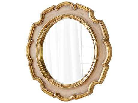 Cyan Design Antonin Gold 35'' Wide Round Wall Mirror
