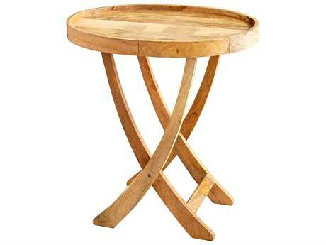 Cyan Design Rustica Tray Natural 30'' Wide Round End Table