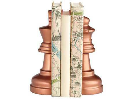 Cyan Design Check Mate Antique Copper Book Ends