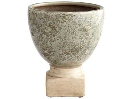Cyan Design Govea Olive Glaze Medium Planter