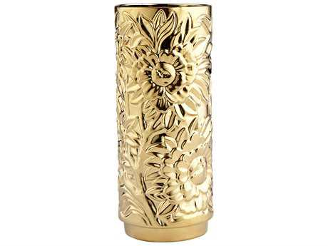 Cyan Design Carnation Gold Medium Vase