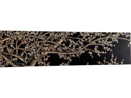 Cyan Design Cherry Blossom Black Wall Decor