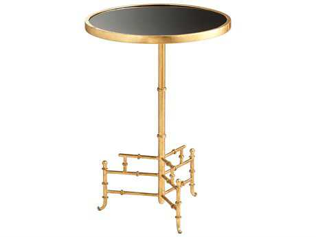 Cyan Design Romy Gold & Black 16'' Wide Round Pedestal Table