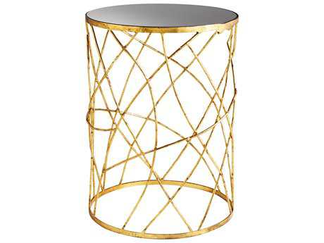 Cyan Design Esca Gold & Black 18'' Wide Round End Table