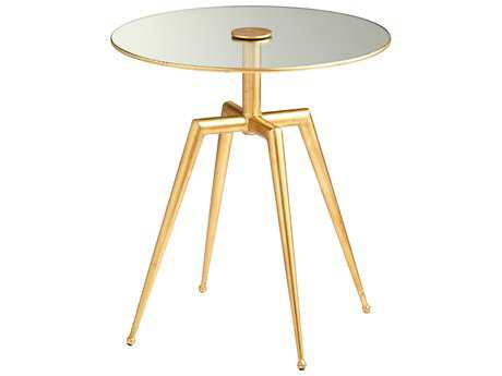 Cyan Design Talon Gold Leaf 19'' Wide Round Pedestal Table
