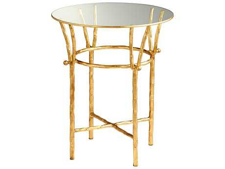 Cyan Design Argent Gold Leaf 20'' Wide Round End Table