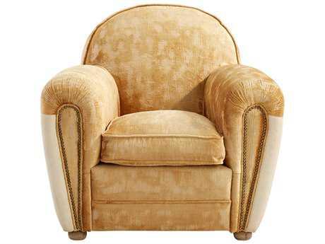 Cyan Design Calvin Light Yellow Vintage Velvet Club Chair