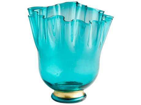 Cyan Design Mevine Turquoise Blue Large Vase