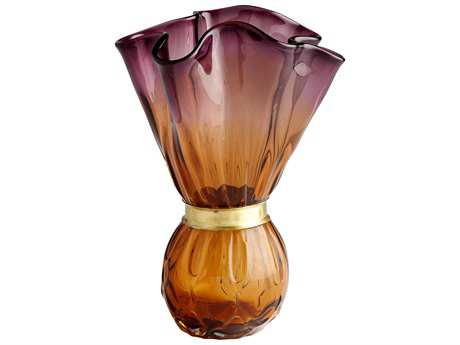 Cyan Design Dalhia Amber & Purple Large Vase