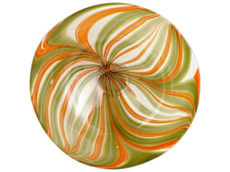 Cyan Design Chika Orange Medium Decorative Plate