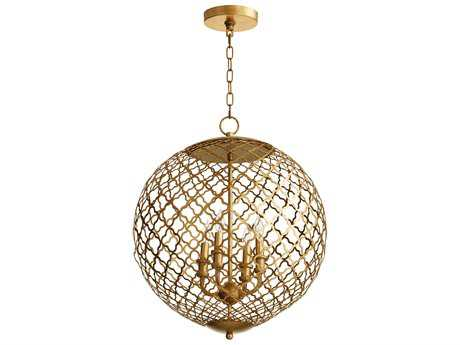 Cyan Design Skyros Gold Leaf Four-Light 20'' Wide Pendant Light