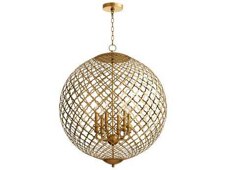 Cyan Design Skyros Gold Leaf Six-Light 20'' Wide Pendant Light