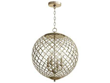Cyan Design Skyros Silver Leaf Four-Light 20'' Wide Pendant Light