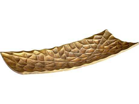 Cyan Design Barren Antique Brass Small Rectangular Tray