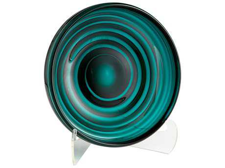 Cyan Design Vertigo Teal Small Decorative Plate