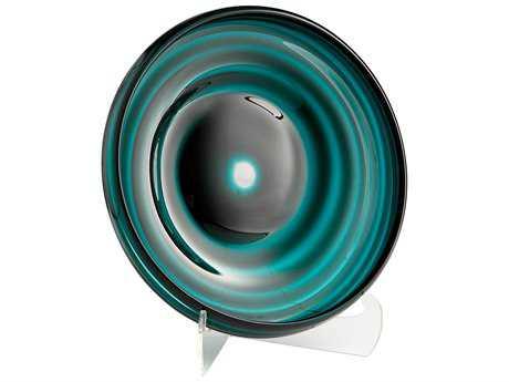 Cyan Design Vertigo Teal Medium Decorative Plate