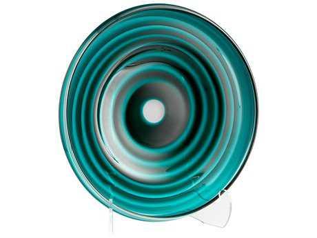 Cyan Design Vertigo Teal Large Decorative Plate