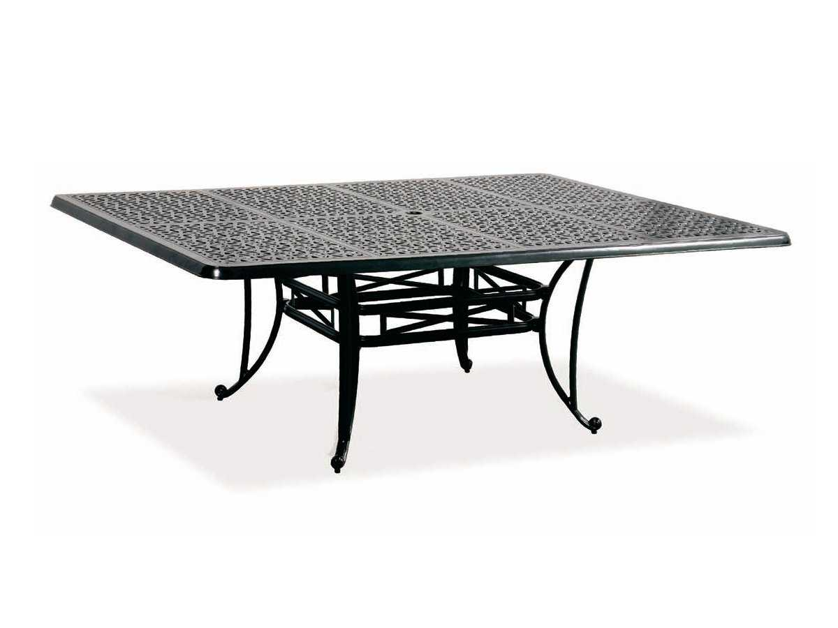 Cast Classics Opus Cast Aluminum 84 X 60 Rectangular Dining Table With Umbrel