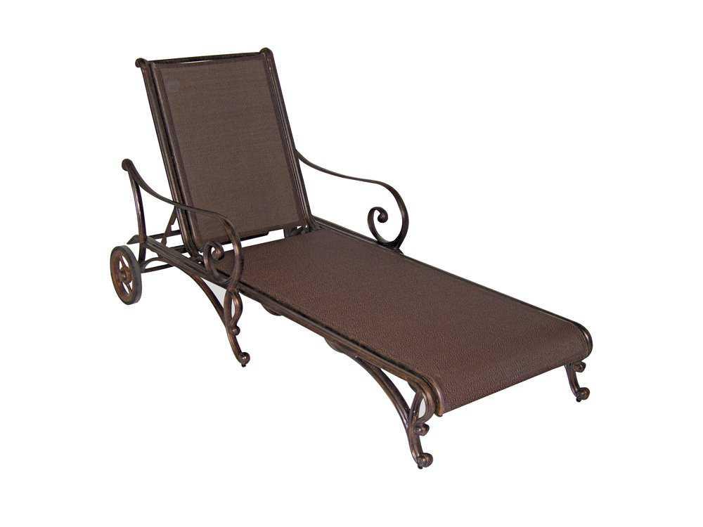 Cast classics deauville sling cast aluminum arm adjustable for Cast aluminum chaise lounge