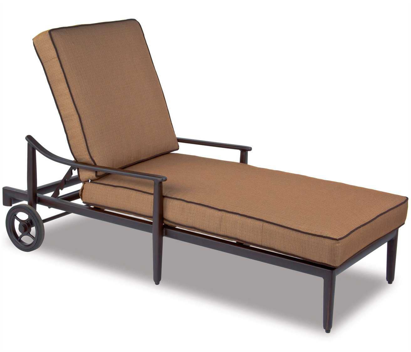 Cast classics sutton cast aluminum cushion chaise lounge for Cast aluminum chaise