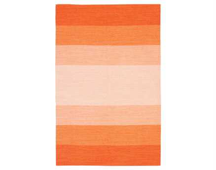 Chandra India Modern Orange Hand Made Cotton Stripes 2' x 3' Area Rug - IND1-23