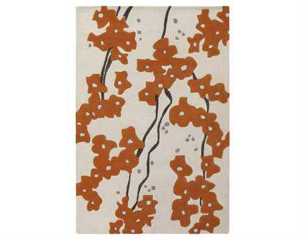 Chandra Inhabit Modern Beige Hand Made Wool Floral/Botanical 5' x 7'6